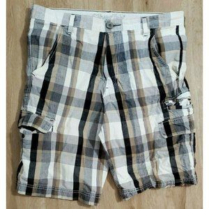 Levi's Silvertab Mens Tan Plaid Cargo Shorts 34